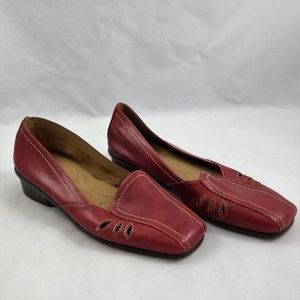 Aerosoles Size 9M Flats Red Faux Leather Slip On